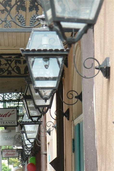 new orleans gas lights antique gas lanterns on bienville street in the new