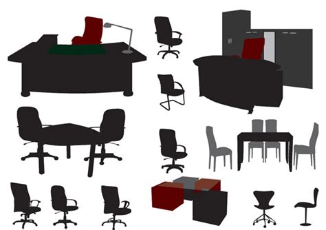 office furniture vector free vector 4vector