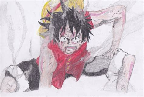 Monkey D Luffy Gear Second monkey d luffy gear second by misayurie28 on deviantart