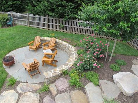 uneven backyard outdoor firepit area simple clean pretty yard and love