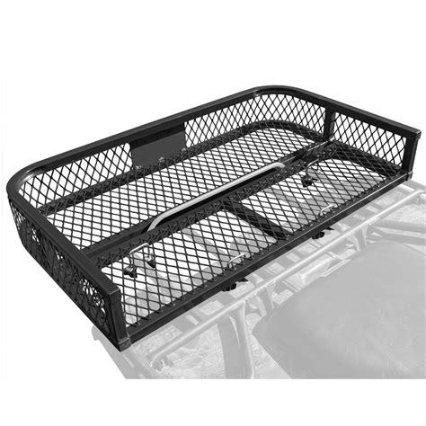 four wheeler rack seat steel mesh atv rear rack basket atvrb 3922 discount rs