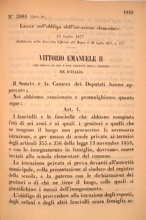 legge casati legge sull obbligo dell istruzione elementare eventi e