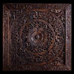 Carved Wood Wall Decor by Carved Wall Panel Made From Teak Wood Hanging Wall