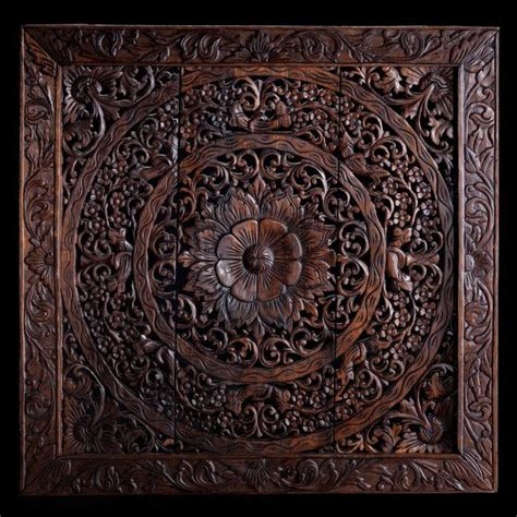 wall wood panel wall mounted decorative panel wood hand carved wall panel made from teak wood hanging wall