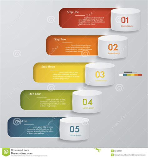 website layout vector free 5 steps chart template graphic or website layout stock