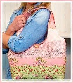 feminine reversible jelly roll tote bag jelly rolls