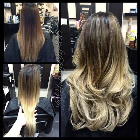 how to get ombre hair balayage american tailoring american tailoring foil and balayage combo base change