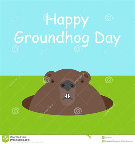 groundhog day one day woodchuck illustrations vector stock images