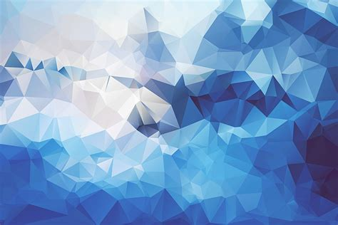 wallpaper geometric blue     poly abstract