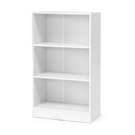 2 shelf white laminate bookcase bookcase flexus 3 shelves 1325x760x415 mm white