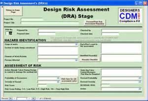 Cdm Design Risk Assessment Template cdm 2015 compliance kit risk assesment for designers ssd