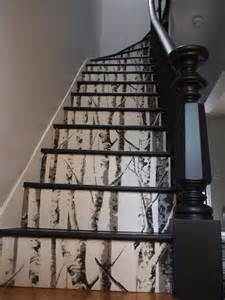 Homedepot Kitchen Island 20 Diy Wallpapered Stair Risers Ideas To Give Stairs Some