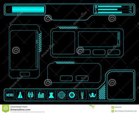 game design elements in vector from stock 7 25xeps space game asset stock vector image of digital elements