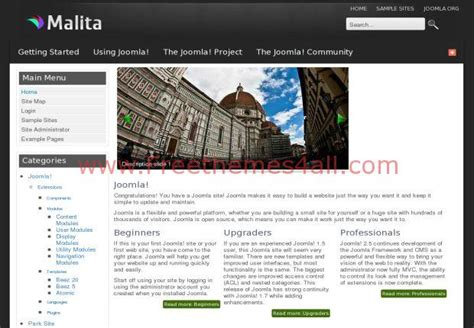 free joomla 2 5 templates for business download malita business joomla 2 5 template download