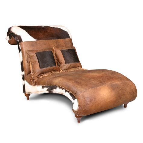 rustic chaise lounge rustic leather animal skin chaise lounge chairs with short
