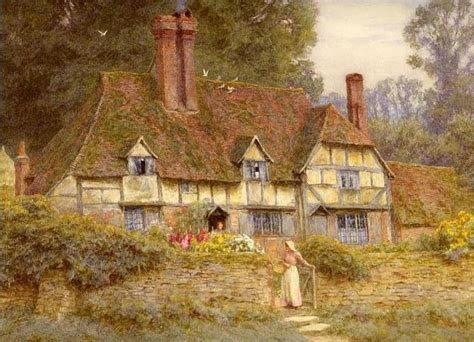 Cottage Paintings by Bumble Button 19th Century Paintings