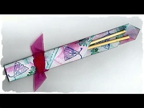 Origami Chopstick Holder - how to make an origami chopstick holder hd