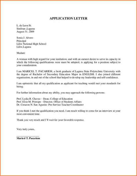 College Application Letter Pdf application letter for
