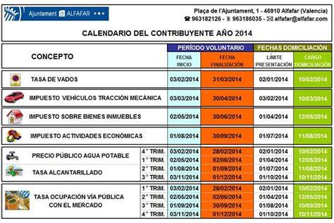 fechas para declarar impuestos 2016 ajuntament d alfafar
