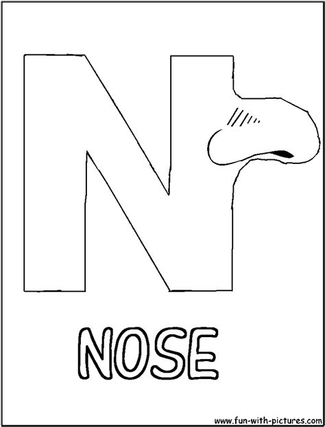 coloring page for nose free coloring pages of nose