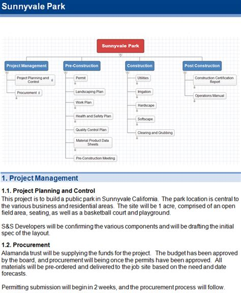 software scope document template project scope software