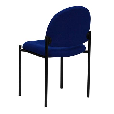 comfortable side chairs ergonomic home navy fabric comfortable stackable steel