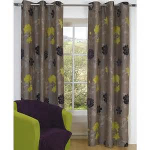 Green And Gray Curtains Ideas Casablanca Floral Jacquard Lined Eyelet Curtains Apple