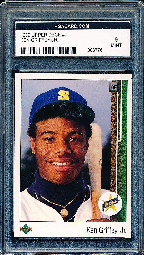 Deck Ken Griffey Jr by Lot Detail 1989 Deck Bb 1 Ken Griffey Jr Hga 9