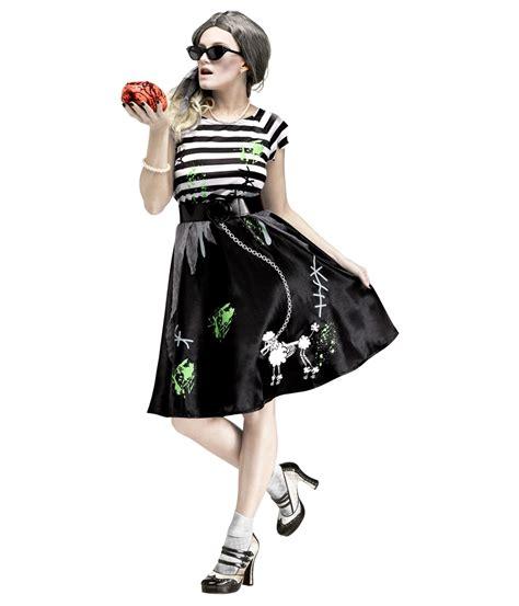 50 theme costumes hairdos 50s sock hop zombie womens costume zombie costumes