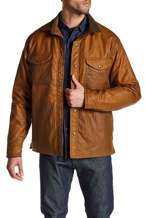 Shirts And Jackets Filson Insulated Shirt Jacket In Brown For Lyst