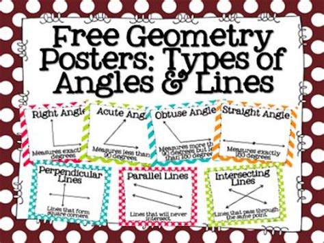 printable angles poster free geometry posters types of angles lines tpt free