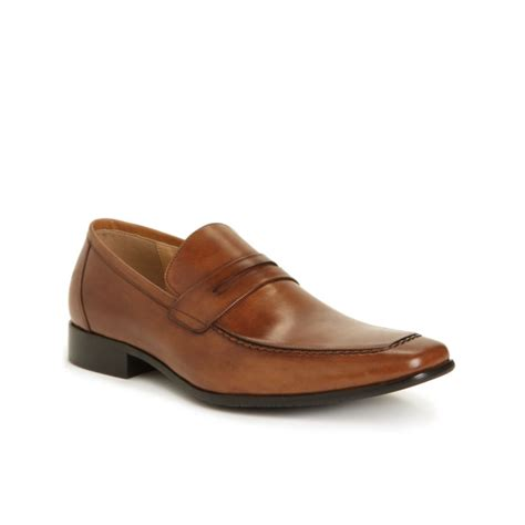 mens steve madden loafers steve madden pawnce loafers in brown for cognac