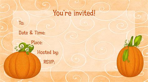 free printable fall invitation templates 8 best images of free printable fall stationary free