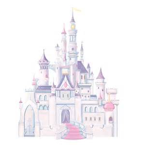 giant glitter castle wall decal everything princesses princess stickers roommates disney