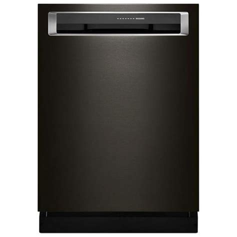 kitchenaid dishwasher kdpm354gbs kitchenaid integrated control dishwasher with clean water wash system black stainless
