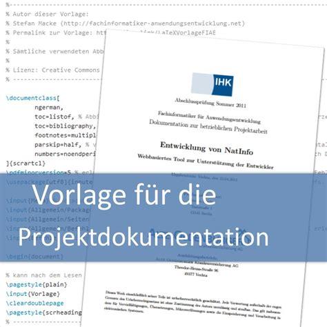 vorlage fuer die projektdokumentation fachinformatiker