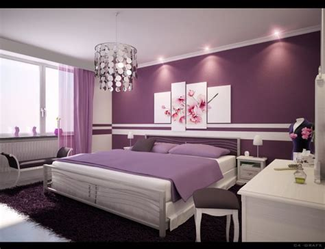 purple bedroom for beautiful bedrooms