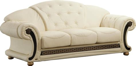 versace ivory sofa versace esf furniture leather sofas at