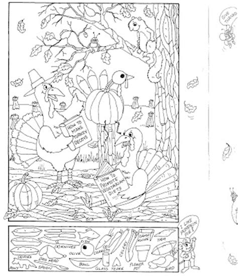 free printable hidden pictures thanksgiving highlights hidden coloring pages colorings net