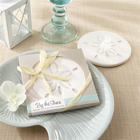 sand dollar coaster and nautical wedding favors by kate aspen
