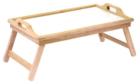 Coffee Table With Tv Tray Tv Tray Table W Wood Frame Handles Contemporary Tv Trays By Shopladder