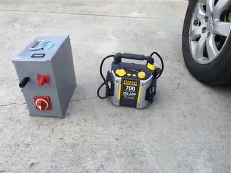 diy capacitor jump starter diy ultra capacitor battery boost box vs stanley battery jump box