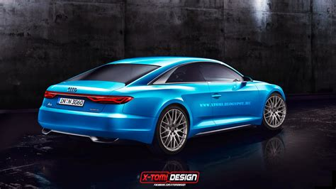 2017 audi a9 rendered as production coupe based on
