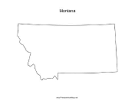 blank map of montana state maps