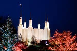 mormon temple dc lights l d s temples holiness to the lord on mormon