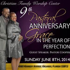 9th pastoral anniversary christian family worship center