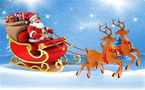 christmas postcard santa claus   sleigh  gifts reindeer desktop hd wallpaper  mobile