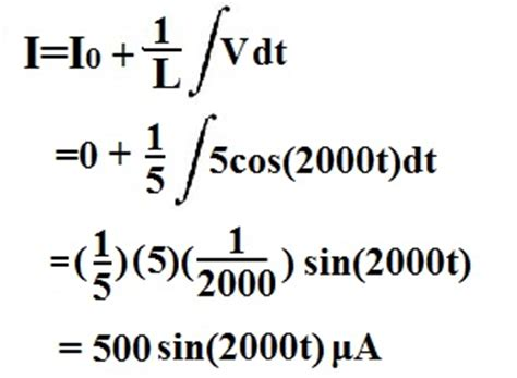 calculating inductor voltage how to calculate the current through an inductor