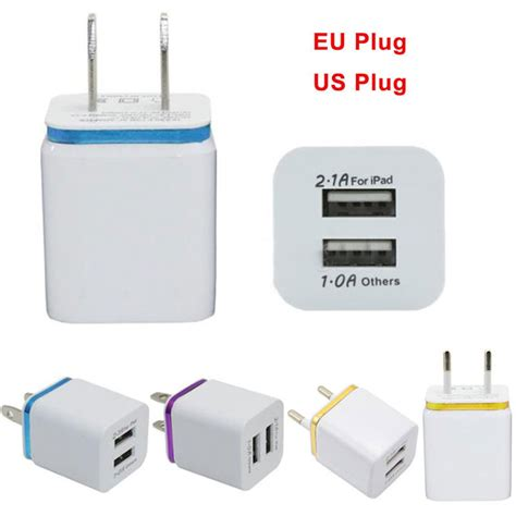 Travel Charger Usb 2port 2 1a 1a universal 2 1a usb 2 port wall home travel ac