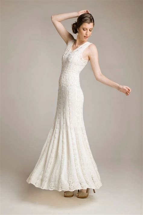 pattern white wedding dress wow 15 wedding dresses you won t believe are crocheted brit co